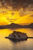The Picturesque Island Village of Sveti Stephan Illuminated at Sunset  Sveti Stephan  Montenegro