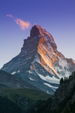 View at Sunset of Matterhorn  Zermatt  Wallis  Switzerland