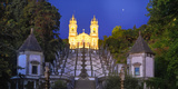 Portugal  Minho Province  Braga  Bom Jesus Do Monte at Night