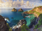 Brazil  Fernando De Noronha Marine National Park  Porco's Bay and Dos Irmaos Peaks