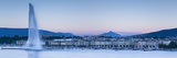 Jet D'Eau on Lake Geneva  Mont Blanc in the Distance  Geneva  Switzerland