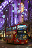 England  London  Soho  Oxford Street  Chirstmas Decorations and London Bus