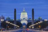 USA  Pennsylvania  Harrisburg  Pennsylvania State Capitol  Exterior  Dawn