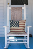 USA  Massachusetts  Cape Cod  Provincetown  the West End  Rocking Chair with Us Flag