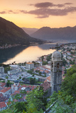 Elevated View over Kotor's Stari Grad (Old Town) and the Bay of Kotor Illuminated