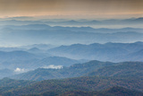 USA  North Carolina  Grandfather Mountain State Park  View of the Blue Ridge Mountains