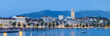 St Domnius Cathedral Bell Tower and Stari Grad Illuminated  Split  Central Dalmatia  Croatia
