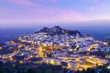 Portugal  Alentejo  Castelo De Vide  Overview at Dusk