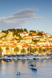 Elevated View over the Picturesque Harbour Town of Hvar Illuminated