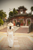 Woman Wearing Ao Dai Dress