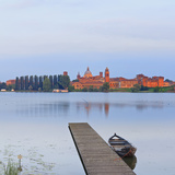 Italy  Lombardy  Mantova District  Mantua  View Towards the Town and Lago Inferiore  Mincio River