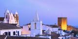 Portugal  Alentejo  Monsaraz  Overview at Dusk