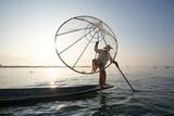 Myanmar  Shan State  Nyaungshwe Township Local Intha Fishermen Fishing (Mr)