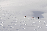 Deep Powder Snow  Skiing  Tyrol  Austria