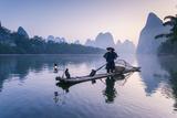China  Guanxi  Yangshuo Old Chinese Fisherman