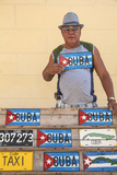 Cuba  Trinidad  Man Selling Cuban Car Number Plates