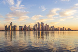 Qatar  Doha Cityscape at Sunrise from the Corniche