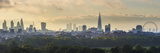 London Skyline with the Shard Above Hyde Park  London  England  Uk