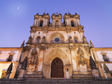 Portugal  Estremadura  Alcobaca  Facade of Santa Maria De Alcobaca Monastery