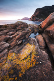Freycinet National Park  Tasmania  Australia Sunrise over Rocky Coast