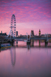 England  London  Southbank  the London Eye  Sunrise