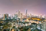 India  Maharashtra  Mumbai  View of the City of Mumbai City Centre at Night from Kemp's Corner