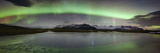 Iceland  South Iceland   Aurora Borealis in Jokulsarlon Lagoon
