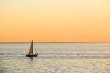 Italy  Friuli Venezia Giulia  Trieste  Boat at Sunset