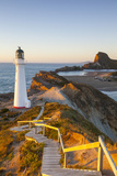 Lighthouse at Castlepoint  Wairarapa  North Island  New Zealand