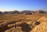 Tourist Taking Photographs  Wadi Rum  Jordan  Middle East (Mr)