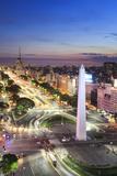 Argentina  Buenos Aires  Avenida 9 De Julio and Obelisk