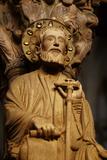 A Religious Sculpture in the Portico De La Gloria in the Cathedral of Santiago De Compostela