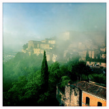 A Clearing Summer Rain Storm over the Medieval Fortress Town of Todi  Umbria  Italy