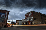 A Scenic View of Downtown Historic Leadville  Colorado  with Brooding Dark Storm Clouds