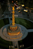 An Aerial View of the Victory Column  Topped by a Statue of Nike  in the Heart of Tiergarten