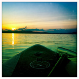 Sunset from a Standup Paddle Board on Sebago Lake  Maine