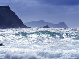 Ocean Waves Break at the Beach at Clogher Head  County Kerry