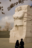 The National Memorial to Dr Martin Luther King and Cherry Blossoms