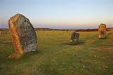 The Hurlers  Prehistoric Stone Circles  on Bodmin Moor  Near Liskeard  Cornwall