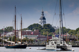 Downtown Annapolis and the State Capitol Dome Seen from the Waterfront