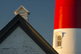 Detail of the Nauset Light  Eastham  Cape Cod  Massachusetts