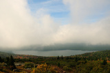 Heavy Clouds over a View of a Lake and Forest from Cadillac Mountain