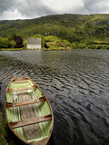 A Rowboat and a Boat House at Gouganbarra  County Cork  Ireland