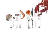 Various Forks Used for Oysters  Shrimp  Sardines  Snails and Lobster