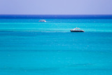 Boaters Enjoying the Turquoise Waters of Grace Bay  in the Turks and Caicos Islands