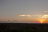 View from Chyulu Hills Looking Towards Mount Kilimanjaro  at Sunrise