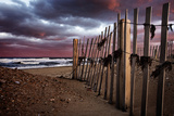 A Wooden Fence on a Sandy Beach on the Outer Banks of North Carolina