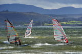 Windsurfing at Downings Sheephaven Bay  Donegal  Ireland