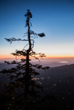 Sunset from on Top of Tahquitz Rock Overlooking Southern California