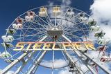 The Iconic Steel Pier Ferris Wheel in Atlantic City  New Jersey